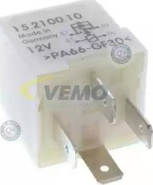 Vemo V15710010 - Реле, продольный наклон шкворня вентилятора autodif.ru