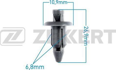 Zekkert BE1271 - Зажим, молдинг / защитная накладка autodif.ru
