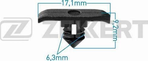 Zekkert BE2461 - Зажим, молдинг / защитная накладка autodif.ru