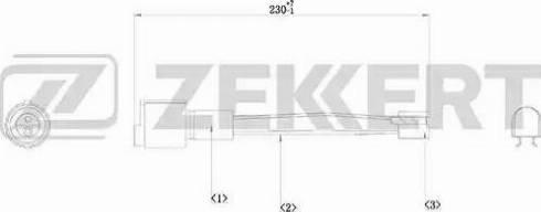 Zekkert BS8001 - Сигнализатор, износ тормозных колодок autodif.ru