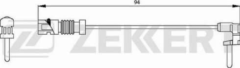 Zekkert BS8003 - Сигнализатор, износ тормозных колодок autodif.ru