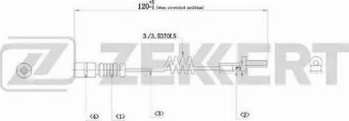Zekkert BS8014 - Сигнализатор, износ тормозных колодок autodif.ru