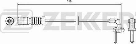 Zekkert BS8027 - Сигнализатор, износ тормозных колодок autodif.ru